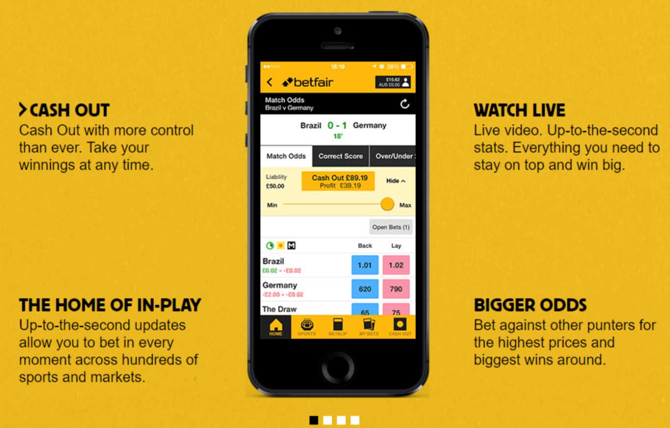 Betfair mobile descarga para Android e iOS
