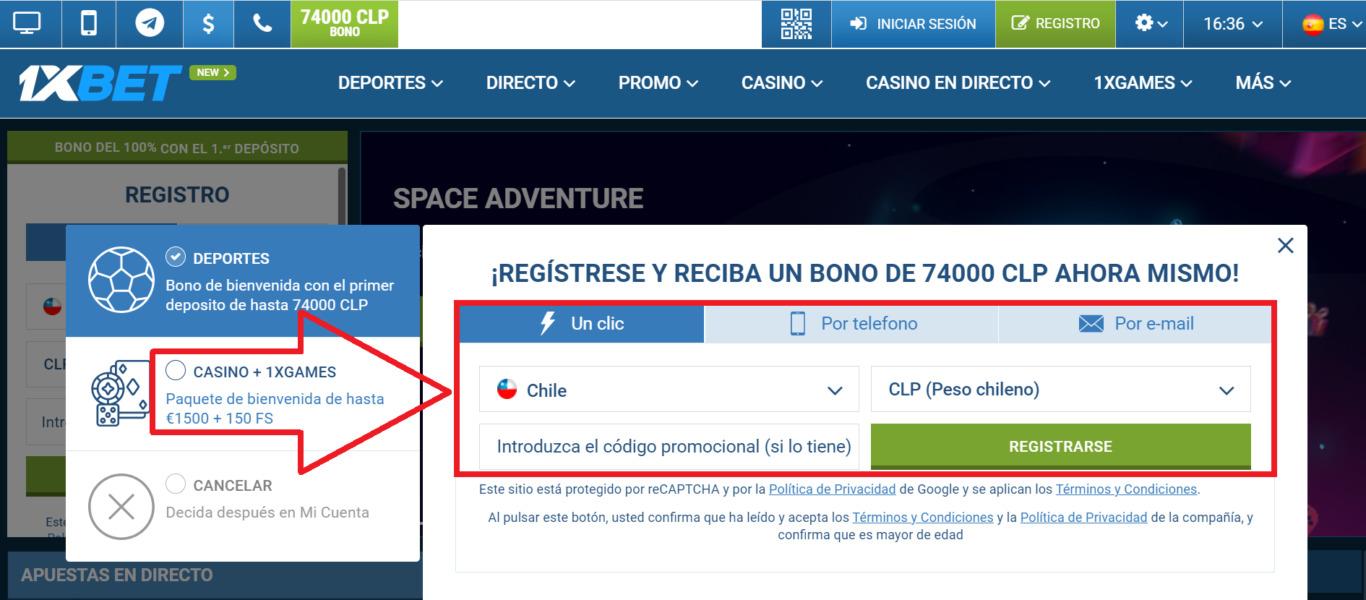 Cómo registrarse 1xBet Chile: un proceso paso a paso