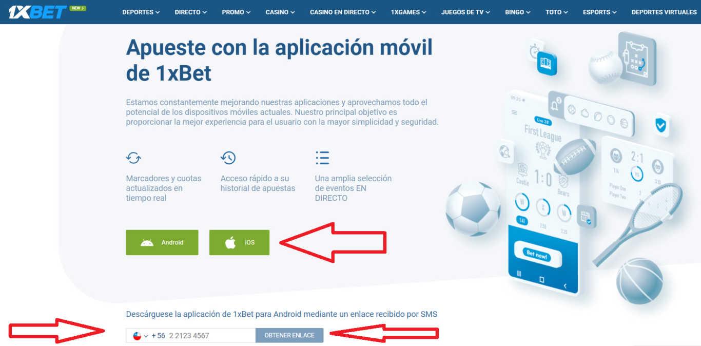1xBet mobile espańol aplicación